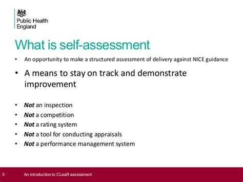 dave jones guidance the importance of self assessment