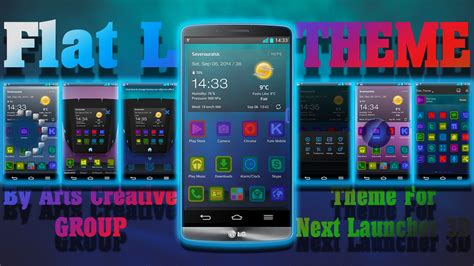 launcher themes wallpaper next launcher 3d theme quot flatl quot android forums at