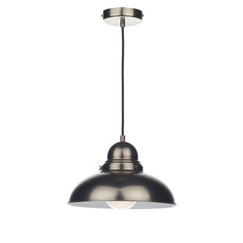 antique chrome retro style ceiling pendant for