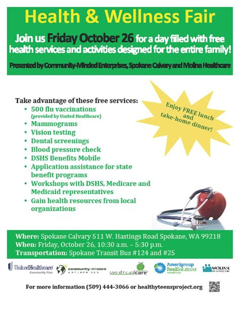 health fair flyer templates free health and wellness fair flyer health fairs