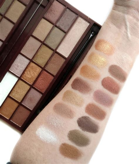 Eyeshadow 6 Chocolate Pallete Kmrx makeup revolution chocolate palettes review swatches