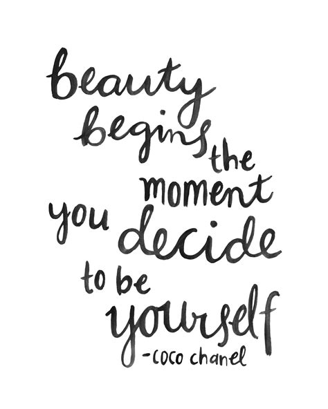 hand lettering quote coco chanel beauty brush scripthand