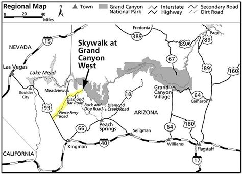 grand map west the hualapai tribe and skywalk grand national
