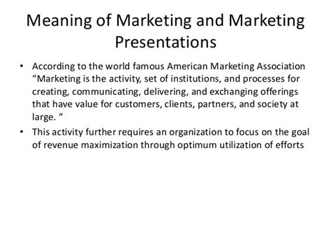 Mba Vocabulary by Mba Ii Unit 2 Business Vocabulary For Marketing Presentations