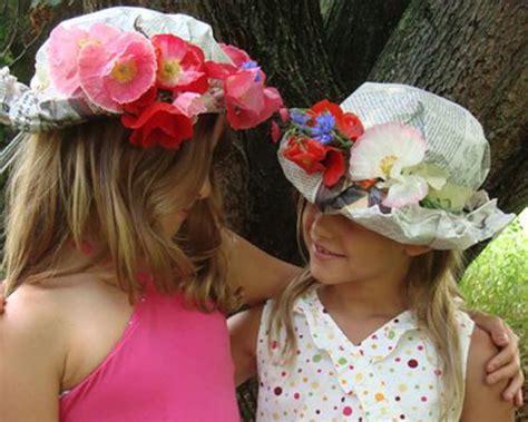 How To Make Easy Paper Hats - sombreros de papel de peri 243 dico y flores