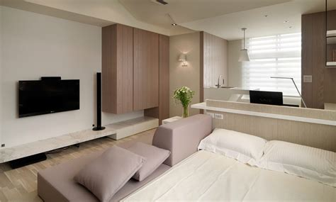 flat design ideas small living super streamlined studio apartment