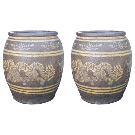 for sale chinese dragon pots for plants lausanne vintage pair of chinese planters with dragons at 1stdibs