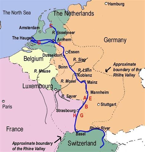 rhine germany map pics for gt rhine danube river map