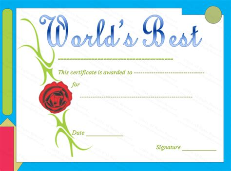 best certificate templates themed world s best award certificate template