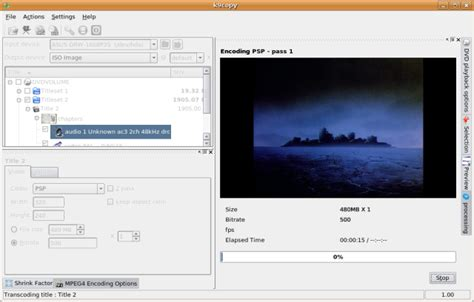 format dvd on linux ripping and encoding a dvd to psp format using k9copy on