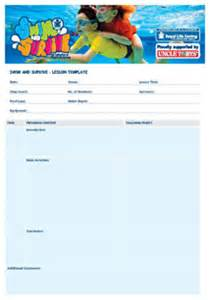 Swimming Lesson Plan Template by Swim And Survive Resources