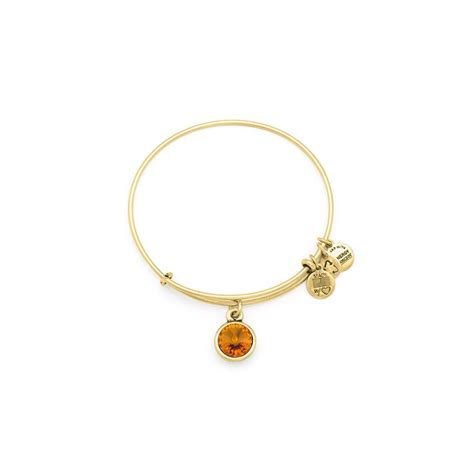 november birthstone alex and ani november topaz birthstone expandable charm bangle gold orange