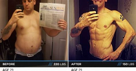 year  man lost  pounds   body fat     year body transformations