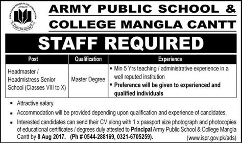 What Is The Minimum Experience Required For Executive Mba by In Army School And College Mangla Cantt 2nd