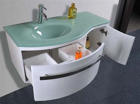 lavandino in vetro bagno arredo bagno mobile taunus con lavabo in cristallo