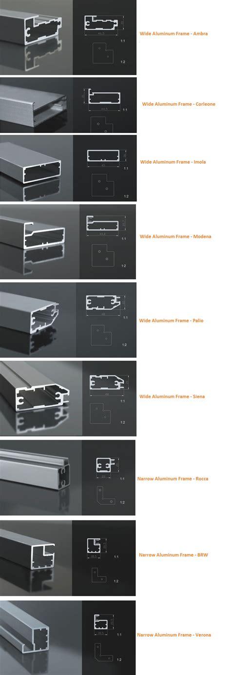 Metal Frame Cabinet Doors Metal Framed Cabinet Doors With Glass Aluminum Frames Stainless Steel Frames Polished