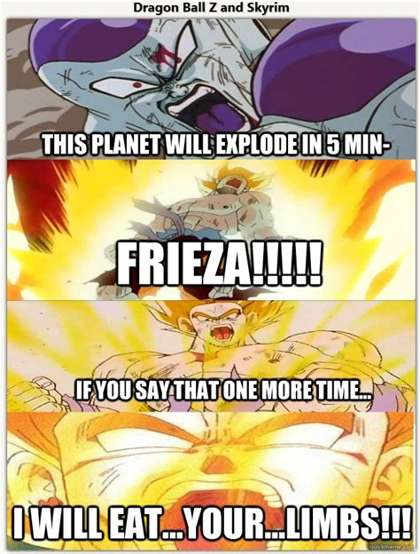 Dragonball Memes - sky rim memes dragon ball z skyrim meme by immyg93 on