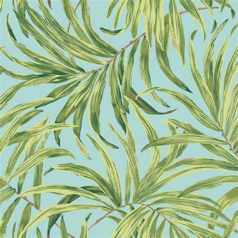 york wallpaper design bali leaves wallpaper in green and blue design by york