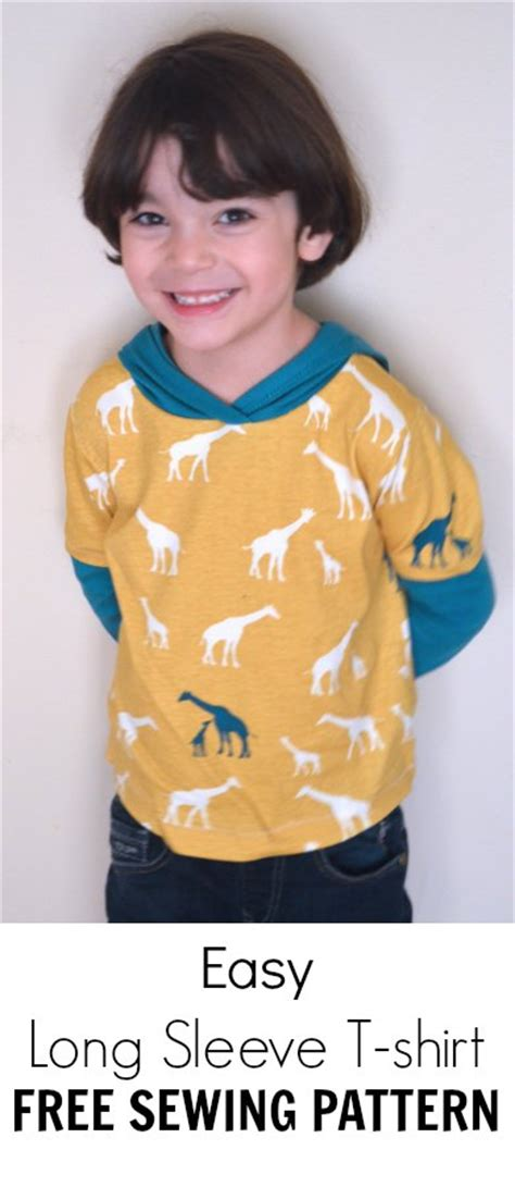 free sewing pattern hijab easy long sleeve t shirt with hoodie pdf pattern on the