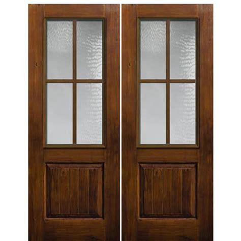 4 Lite Exterior Door Glasscraft 4 Lite Ka 2 3 Sdl 2 4 Lite Knotty Alder 2 3 Sdl Knotty Alder Wood Grain Fiberglass
