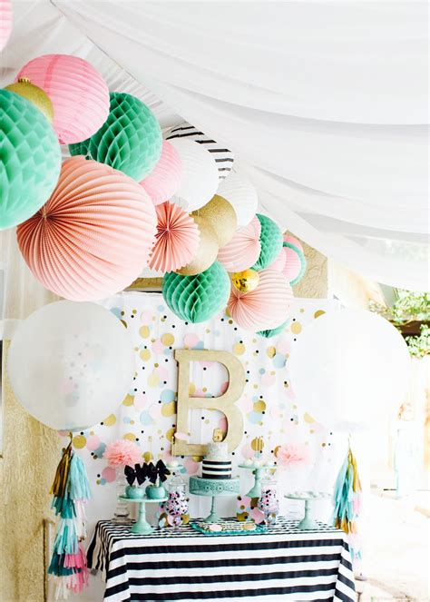 party themes modern cue the confetti modern bright birthday party