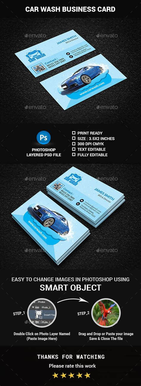 car wash business card template psd car wash business card themes html