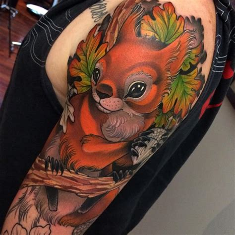 squirrel tattoos pretty squirrel best ideas gallery