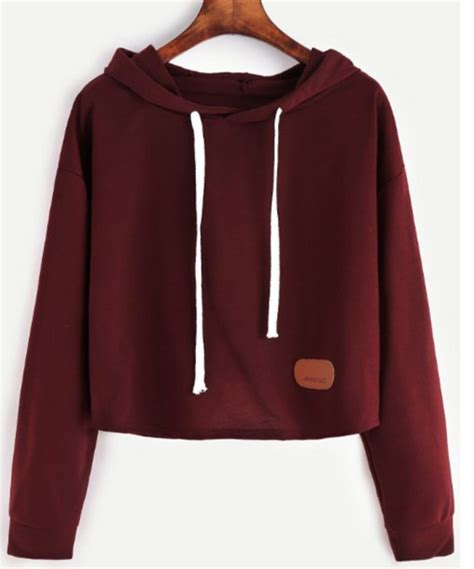 Sweater Crop Hoodie sweater burgundy crop crop tops cropped cropped