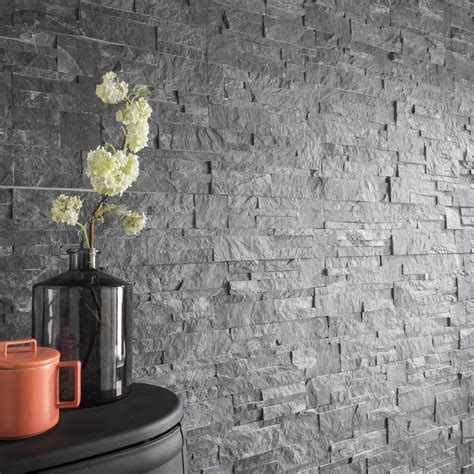 leroy merlin parement mural 3547 plaquette de parement naturelle gris elegance