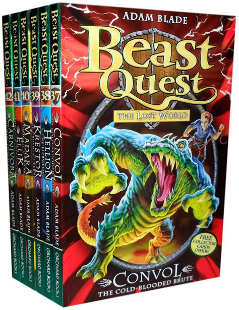 Set Seprei 7 beast quest series 7 collection 6 books pack set 37 to 42