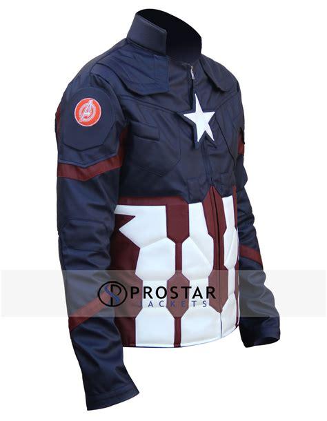 Kaos Captain America Big Size Xxxxl civil war captain america jacket prostarjackets
