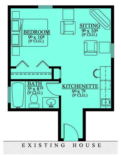 in suite house plans 654185 in suite addition house plans