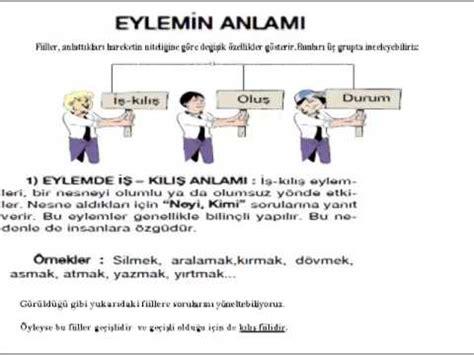 8 türkçe eylem bilgisi fiilerin anlam ozellikleri youtube