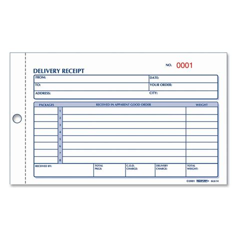 Receipt Free Delivery Receipt Form Delivery Receipt Form Delivery Ticket Template