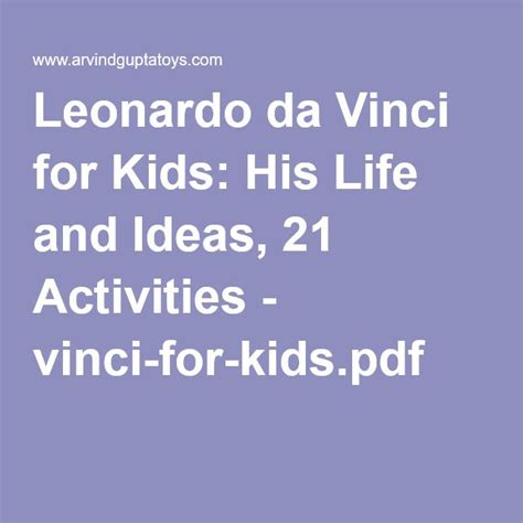 leonardo da vinci biography for students 8 best leonardo da vinci for kids images on pinterest