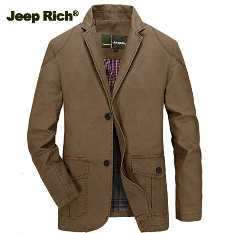 jeep rich jacket jeep rich men spring fall cotton casual blazer slim fit