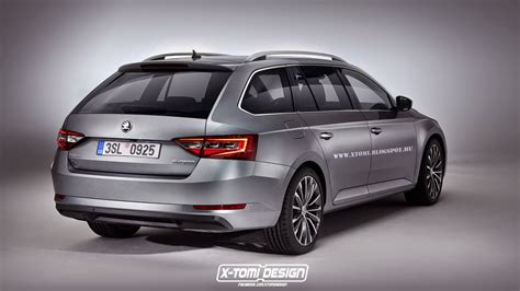 skoda superb combi rendering may as well be the real thing