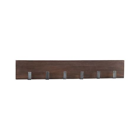 andes wall mounted coat rack leigh wall mounted coat rack crate and barrel