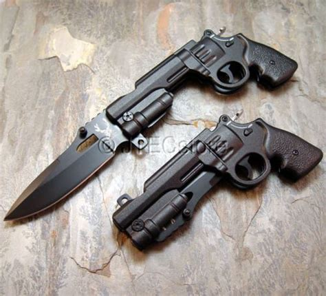 knife revolver jtec assisted revolver pistol gun black folding