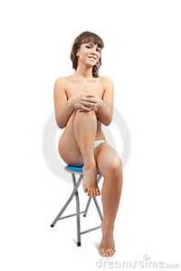 nude girl sitting on stool royalty free stock photo   image 11465395