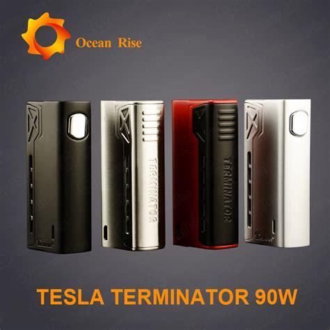 Tesla Terminator Black Ss tesla terminator 90w vape box mod kit tesla electronic