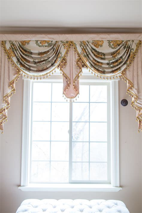 swag curtain patterns embossed daisy overlapping swag valance curtains