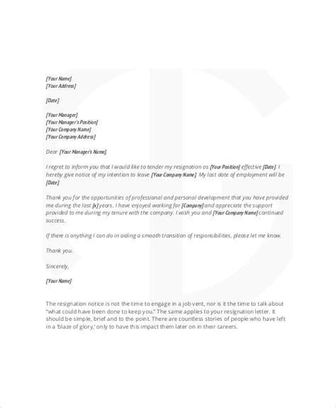 Same Day Resignation Letter by Same Day Resignation Letter Resume Cv Cover Letter