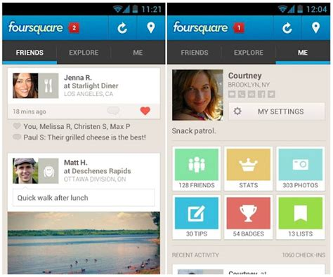 foursquare for android foursquare for android gets updated with new ui and features