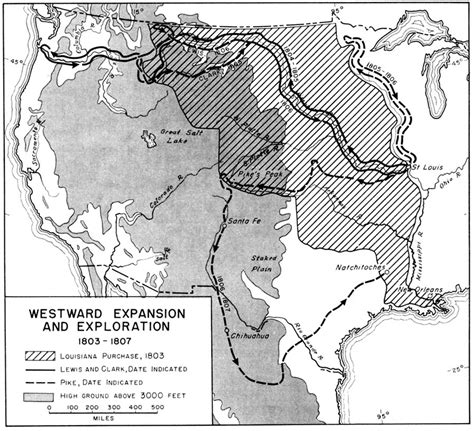 westward expansion map map depicting westward expansion and exploration