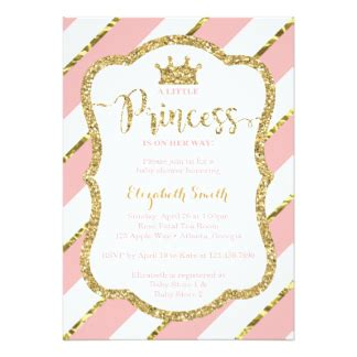Pink And Gold Baby Shower Invitations by Pink And Gold Invitations Announcements Zazzle