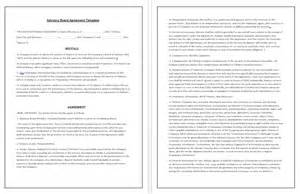 advisory board agreement template tips amp guidelines