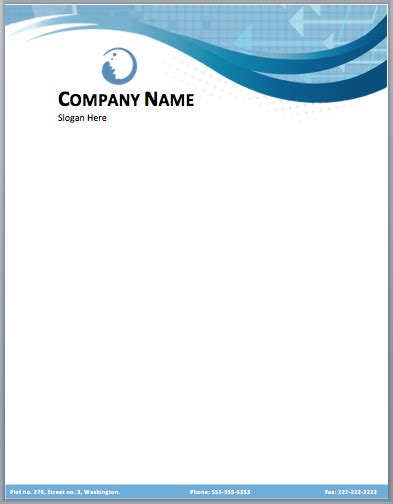 business company letterhead template free small medium