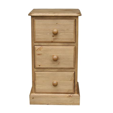 Small Bedside Tables With Drawers by Cottage Pine 3 Drawer Small Bedside Cabinet