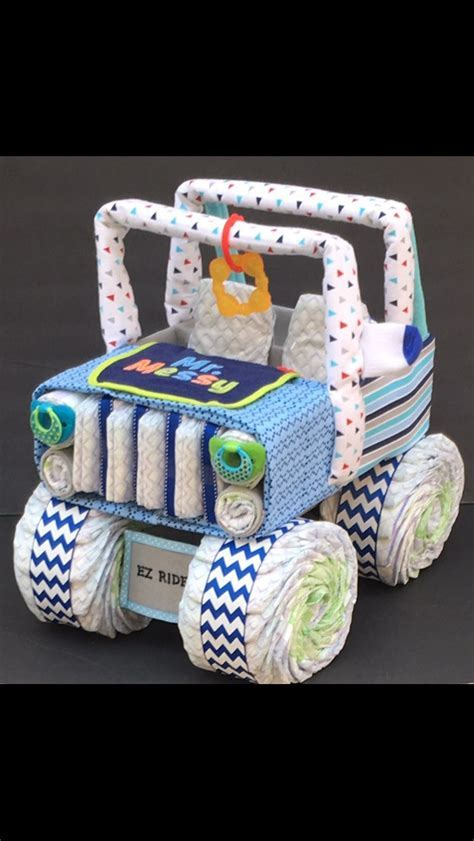 BLACK FRIDAY SALE Jeep baby, diaper jeep, nautical baby shower, diaper centerpiece, diaper cake